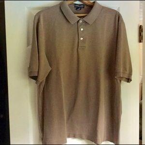 Lands End Cotton Beige Polo Shirt Size XL 46-48